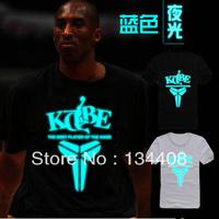 2013 New Hot Sale KOBE Best Love Night Light Sport Running Bastball Black Shrit