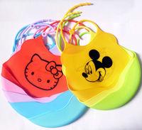 wholesale silicone baby bibs bib for feeding Waterproof 24 designs free shipping 10pcs/lot