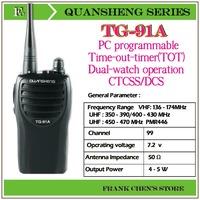 Portable Two Way Radio QUANSHENG Two Way Radio UHF/UHF Multiband Transceiver  TG-91A Free Shipping