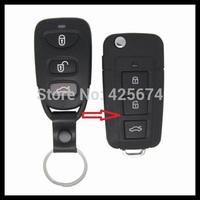 Free shipping for 4button blank modified flip folding remote key shell for Kia Sorento, key case for Kia  (A014) 0101133