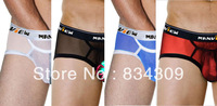 5PCS Hot Mini Boxer Sexy Man Underwear Mesh Transparent See-Through Boxers Bulge Pouch Low Rise Bottoms Underpants