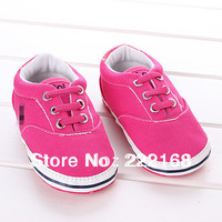 In Stock PU Canvas Children's Shoe Baby Girls Toddler Shoes Soft Soles Prewalkers First Walkers Sneaker Sport Shoe Free Shipping
