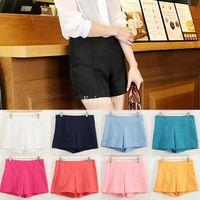 2014 New Fashion Summer Designer Women Ladies Casual Harem Chiffon Hot Pants High Waisted Shorts Black for Xmas