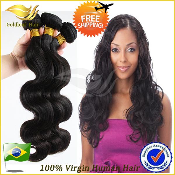 Qd queen hair grade 6a virgin cheveux brésiliens vague de corps cheveux extension de cheveux humains armure de couleur naturelle 3pcs/lot ondulés. livraison gratuite