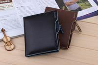 Men's Leather Business Wallet Document Wallets Bifold Purse Men Desigual Wallet Money Clip#2426