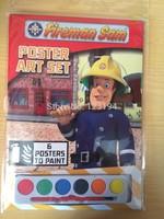 Fireman Sam Cartoon stickers baby birthday gift free shipping poster art set paint educational drawing