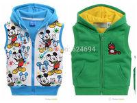 2014 boys Winter Vest Children's cotton Waistcoat warm clothes for Kids Hooded Vest Jacket Zipper Coat boys outwear Hoodie coats