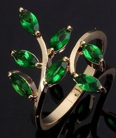 Fashion.Size 6 7 8 9 10 Jewelry NO22 Woman's 10KT Gold  Ring Gift Sapphire Emerald.Free Shipping