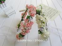 New Boho Hair Bridal Wedding Wreath Flower Girl Garland bridesmaid Festival Wedding Garland Forehead Hair Head Band