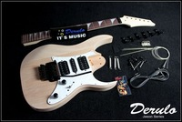DIY Electric Guitar Kit  Solid Mahogany Body  Maple Neck  Unfinished MX-024
