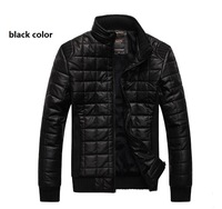 NEW 2014 Mens Leather Jackets Short Design Stand Collar PU Coats Thickening Outerwear