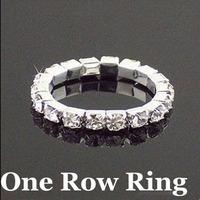 Min Order $5 (Mix Order) Adjustable Crystal CZ Ring Single Row Rhinestone Toe Ring