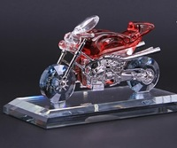 Free shipping classic crystal motorcycle car model perfume decoration auto supplies