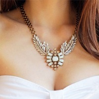 XL-002 Fashion Hot women new retro wild angel wings flash necklace wholesale luxury