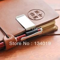 Custom notebook clip, genuine leather notebook notebook, metal pen holder, paper folder