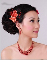 Sample order Fashion 2013 Free shipping All over the sky star hair clips The bride headdress F0077