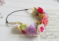 Freeing Shipping Boho Hair Bridal Wedding Wreath Flower Girl Garland bridesmaid Festival Wedding Garland Forehead Hair Head Band