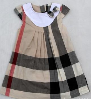 Baby girls classic plaid dress,kids sleeveless soft sundress