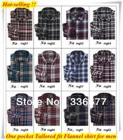 Free shipping XS S M  L  XL XXL XXXL XXXXL long sleeve mens winter check/plaids Flannel button down shirt for men 2013 QR-1154