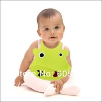 wholesale 10pcs/lot cute waterproof animal silicone baby wear with pocket free shipping