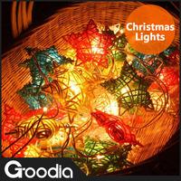 2Set/Lot 125V 220V Christmas Lights Star LED Strip Light Rattan Decoration Balls Wedding Garden Lamps 250CM 20Balls Strip Light