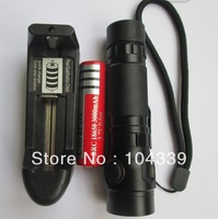 free shipping  1000 Lm Zoomable CREE XM-L T6 LED Flashlight Torch Lamp , tail cover with magnet +18650 battyer +charger
