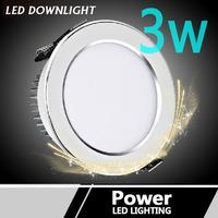 Led anti fog downlight 2.5-inch full 3w  85-265V 8 cm in the living room ceiling spotlights Ceiling bathroom wall lamp