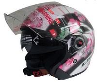 Professional motorcycle helmet open face capacete ls2 casque moto half helmets with Controable Internal Black Sunglass OF 569