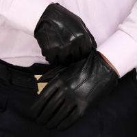 Sheepskin gloves Men's  Driving glove Unlined Leisure Convergent gloves Short Fashion Female dtst005