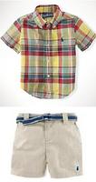 New, retails ,Free Shipping, boys clothes set, T shirt + pants, 2 in 1, 1set/lot--90-130cm--JYS307
