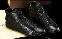 Hot Sale! 2013 New famous Brand Designer louis Men Fashion Mens Flat Shoes Men's Casual Shoes sneakers shoes leather shoes 39-45