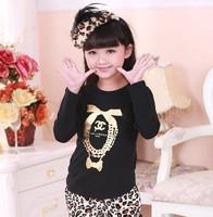 2014 spring autumn fall children kids clothing girls clothes cartoon cotton long sleeve girl t shirt shirts 6-14