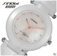Free shipping new 2013 sinobi authentic ceramic watch lovers quartz watch women dress watches