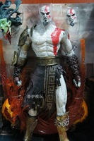 "God of War 1pcs 16"" NECA God of War Kratos in Golden Fleece Armor with Medusa Head PVC Action Figure Collection Model Toy"