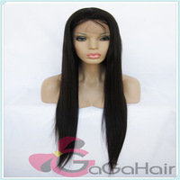 Free Shipping Brazilian Virgin Lace Front Wigs 1# Jet Black 10''-24''  Lace Front With Stretch Lace Back Silky Straight