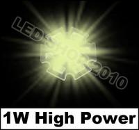 100pcs 1W Warm white HIGH POWER LED Star 100LM 3200K 1watt lamp light