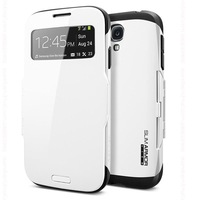 In Stock!!! SGP SPIGEN Slim Armor View Automatic Sleep / WAKE Flip Cover case for Samsung galaxy s4 i9500,