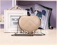 Fashion women party queen handbag day clutch heart mini Peach bag with chain shoulder evening small bags 81149