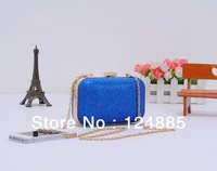Fashion women's glitter powder Purses Party banquet mini bag with chain evening handbag 81150
