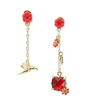 2013 fashion accessories Free shipping  Luxury Jewelry Country Red Flower Queen Golden Statement Earrings authentic