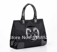 women's handbag fashion shoulder bag nylon+PU leather bag brand designer handbags ladies tote 40x28x15.5cm free shipping 502
