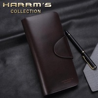 free shipping Male wallet male medium-long genuine leather wallet commercial men's long design purse