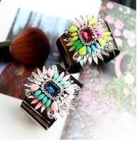 Min order $10 2014 fashion shourouk beads bubble Bracelets & Bangles statement crystal flowerbangle for women jewelry