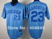 AA+ 23 multiple Ryne Sandberg jersey,throwback Cubs home white gray blue authentic,women youth custom baseball free shipping