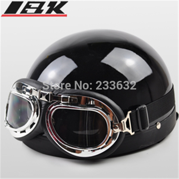 Free Shipping New summer helmet Vespa Open Face Half Motorcycle & Goggles & Motorcycle Helmet brilliant black moto helmet(China (Mainland))