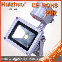 10pcs/lot IP65 10W sensor floodlight white/warm white PIR led floodlight  motion sensor indoor and corridor flood lights