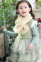 children scarf female child thermal scarf plush bear baby winter female child scarf  5698