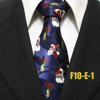 2014 Mens Santa Claus Festival Father Christmas Dark Blue Neckties For Man Fashion Party Ties For Men Holiday Gravatas F10-E-1