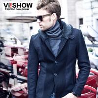 coats & jackets viishow2013 new winter coat male personality influx of men casual Slim short coat collar men's suits