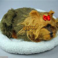 Breathing dog yorkshire interactive dog breathing stuffed dog breathing stuffed animals